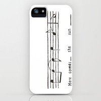 Here comes the sun- the Beatles  iPhone Case by Elyse Notarianni | Society6