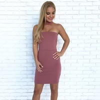 Making Music Bodycon Dress in Mauve