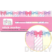 Bow Tie and Ribbon Shaped Girly Memo Post-it Index Bookmark Tabs in Pink