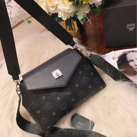 MCM Essential Crossbody in Visetos Original