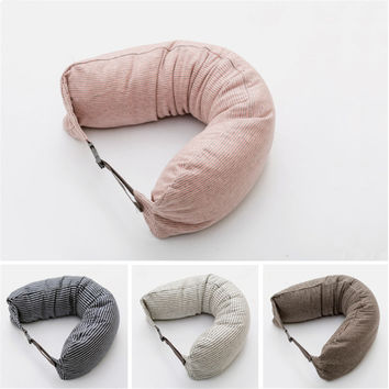 U-shape pillow Travel Neck Pillow Cotton Pillows massager nanoparticles Japan Travesseiro Almohada U Pillow Side Sleepers