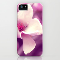 Lonely Flower - Radiant Orchid iPhone & iPod Case by Libertad Leal Photography