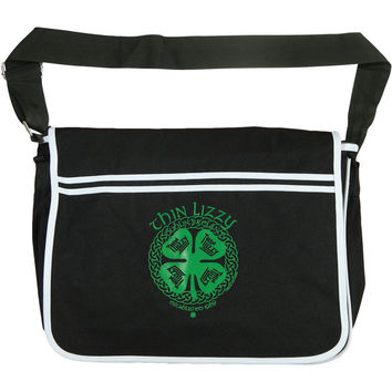 Thin Lizzy Dublin Retro Messenger Bag Black