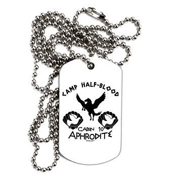 Cabin 10 Aphrodite Camp Half Blood Adult Dog Tag Chain Necklace by TooLoud