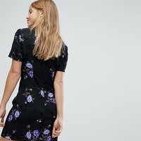 Nobody's Child High Neck Dress With Key Hole Detail In Floral at asos.com