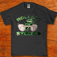 Rolling stoned weed 420 get high t-shirt adult Brand new