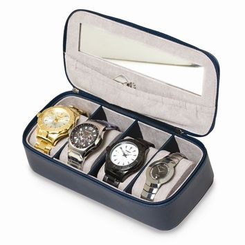 PU Watch Case Available in Navy Blue/Grey - Perfect Gift