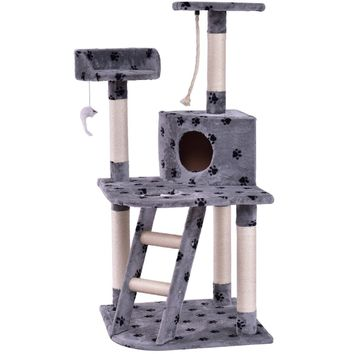 """48"""" Cat Tree Pet Kitten Play House With Rope And Ladder"""