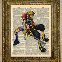 Sora and Kairi Kingdom Hearts Dictionary Art