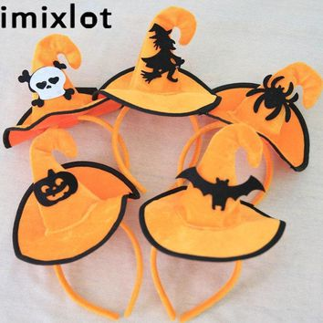 Imixlot 1 Pc Halloween Pumpkin Witch Hair Clasp For Kids Girls Masquerade Party Fancy Dress Props New Arrival