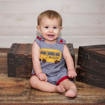 2018 Fall Haute Baby A Is For Apple Boys Romper