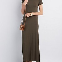 OPEN BACK SLIT MAXI DRESS