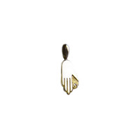 My Heart In Your Hand Sterling Silver Gold Charm