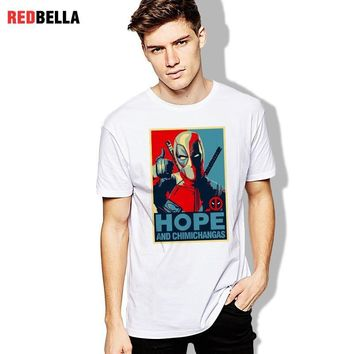 Deadpool Dead pool Taco Funny Marvel T-shirt Man  Hope Tee Shirt Men Vintage Tees Cartoon Comic Hippop Tshirt Cotton Casual Print O Neck Clothes AT_70_6
