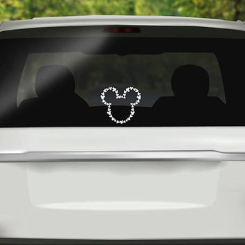 Mickey Head Decal - Disneyland Decal - Disney Sticker - Disney Vacation - Disney Castle Vinyl - Bumper sticker - Vinyl Decal - Car Sticker