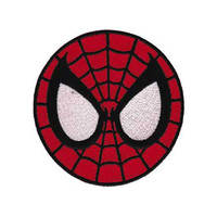 Spiderman Mask Embroidered Iron-On Patch