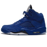 136027-401 MEN AIR 5 RETRO JORDAN GAME ROYAL BLACK