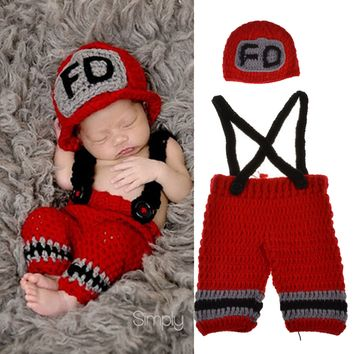 Firefighters - Baby Firefighter Outfit (Red)