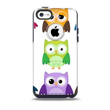 The Emotional Cartoon Owls Skin for the iPhone 5c OtterBox Commuter Case