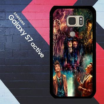 Doctor Who Poster Tardis Police Box L1570 Samsung Galaxy S7 Active Case