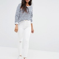 River Island Molly Busted Knee Skinny Jean