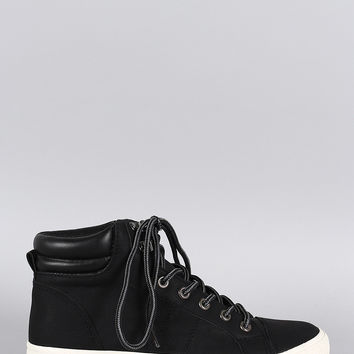 Soda High Top Lace Up Sneaker