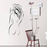 Wall Decal Spa Beauty Salon Body Girl Model Sticker Bedroom Home Decor OS326