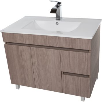 "Zeus 40"" Standing Bathroom Vanity Cabinet Set Bath Furniture With Single Sink Estepa/ White/ Wenge"