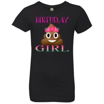 Birthday Girl Poop Emoji Shirt Available in 11 Colors