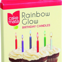 Cake Mate Birthday Party Candles - Rainbow Glow - 12 Count - Case Of 12