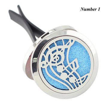 Car Oil Diffuser Locket With Vent Clip