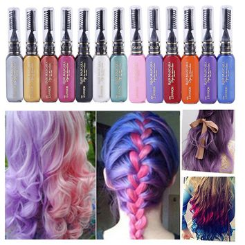 INSHOWTIENDA hair dye Women hair color tintura de cabelo Professional pastel Temporary Instant Dye Highlights Streaks Touch
