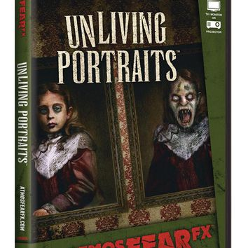 ATMOSFEARFX UNLIVING PORTRAITS DVD - Horror Grave yard Halloween Special effects 2017
