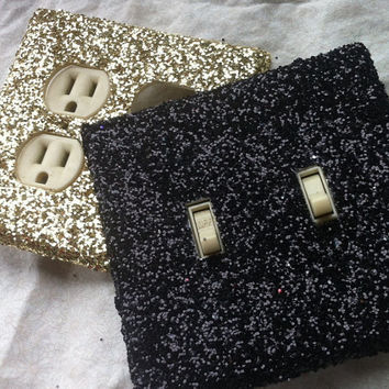 Glitter Switchplate  Any Color by ArtZodiac on Etsy