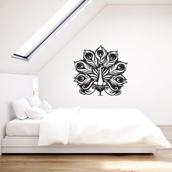 Vinyl Decal Style Peacock Peafowl Bird Animals Wall Sticker Mural Unique Gift (g037)