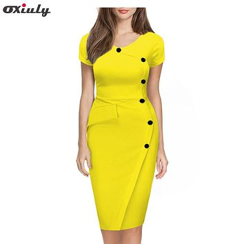 Casual O-Neck Bodycon Knee-Length Dress