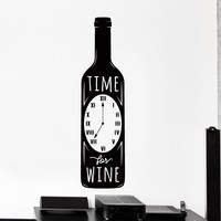 Wall Vinyl Decal Kitchen Quote Time To Drink Wine Home Restaurant Home Decor Unique Gift z4248
