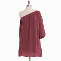 i'll make it anywhere one shoulder tunic in rose - $39.99 : ShopRuche.com, Vintage Inspired Clothing, Affordable Clothes, Eco friendly Fashion