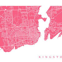 Kingston Map - Ontario poster art
