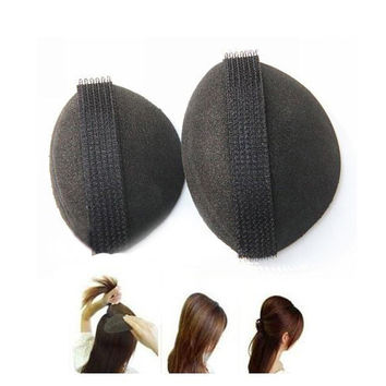2pcs Noble Volume Hair Base DIY Volumizing Tool New Black Hot Sale