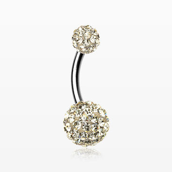 Classic Multi-Gem Sparkle Belly Ring