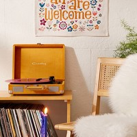 All Are Welcome Mini Embroidered Tapestry | Urban Outfitters