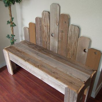 Recycled Wood Bench by TRUECONNECTION