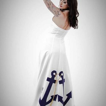 Anchor wedding dress BY TiCCi Rockabilly Clothing