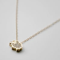 Little Sheep Necklace, 14k Gold