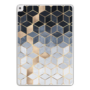 Soft Blue Gradient Cubes iPad Tablet Skin