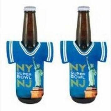 ICIKU3N 2014 Super Bowl XLVIII 48 New York New Jersey NFL Football Bottle Jersey Holder Koozie