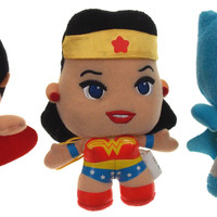 Lot 3 Batman v Superman Wonder Woman DC Comics Originals Little Mates Plush Set