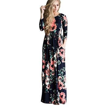 6e4d1e595bd Bohemian Maternity Dress Floral Printed Dresses For Pregnant Wom