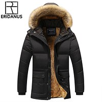 Winter Men Down Parkas Cotton-padded Jackets Men' S Casual Down Jackets Thicken Coats OverCoat Warm Clothing